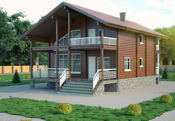 Проект дома из бруса 15х9,5 БК-34