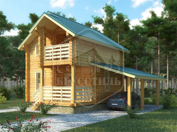 Проект дома из бруса 6х6 БД-104