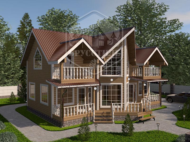 Проект дома из бруса 9,5х12 БК-35