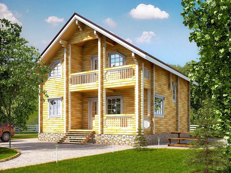 Проект дома из бруса 9х9,7 БД-111