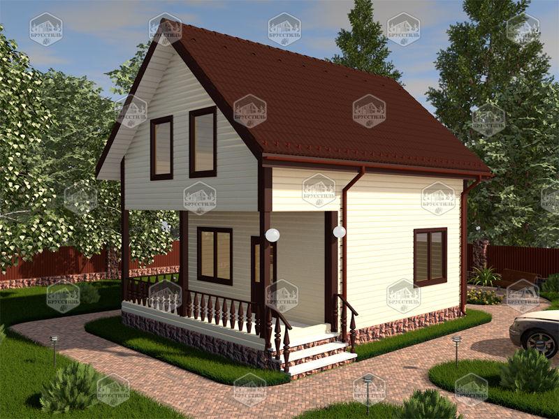 Проект дома из бруса 6х8 MT-1