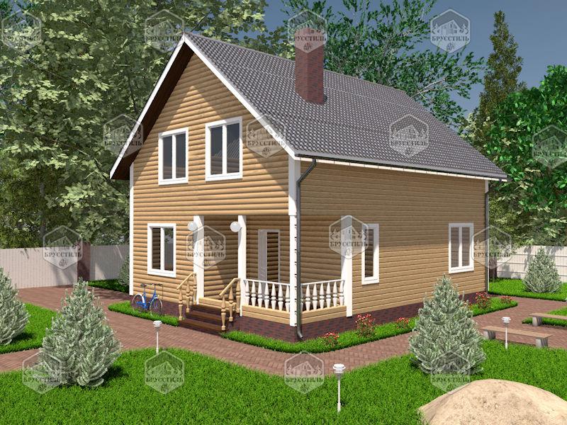 Проект дома из бруса 8х10 MT-13