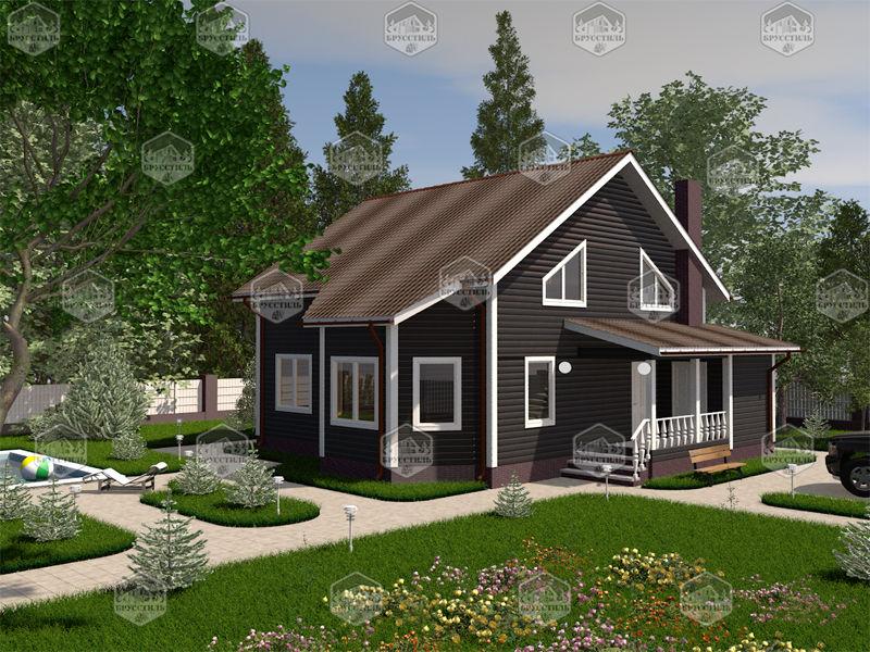 Проект дома из бруса 9х9 MT-15