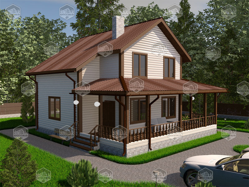 Проект дома из бруса 9х10 MT-16
