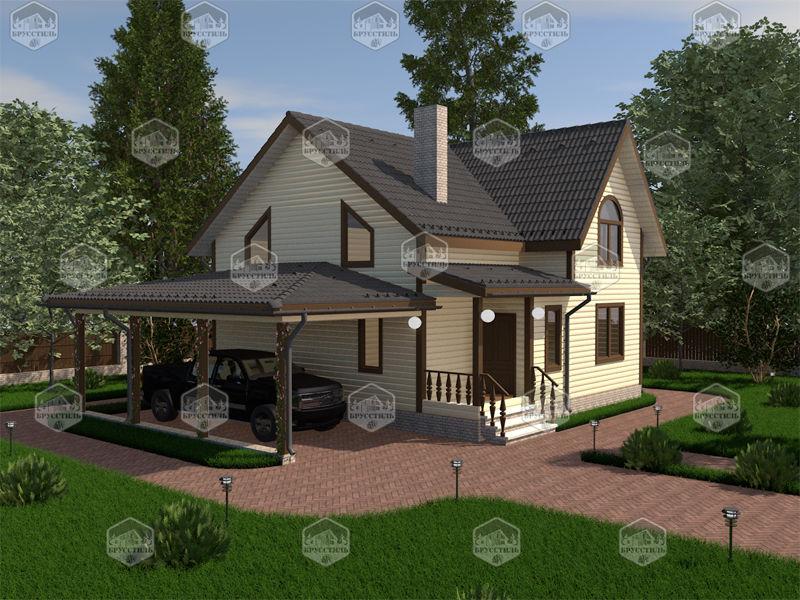 Проект дома из бруса 8х9 MT-18