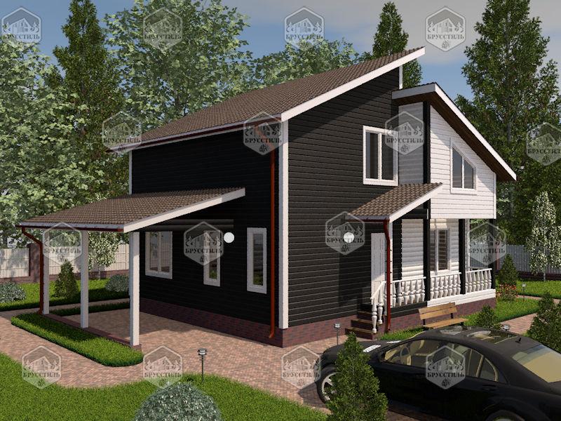 Проект дома из бруса 9х9 MT-19