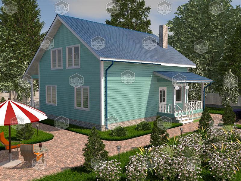 Проект дома из бруса 8х10 MT-20