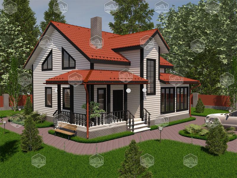 Проект дома из бруса 8х9,5 MT-21