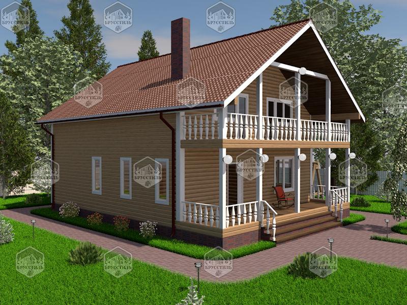 Проект дома из бруса 9х12 MT-23