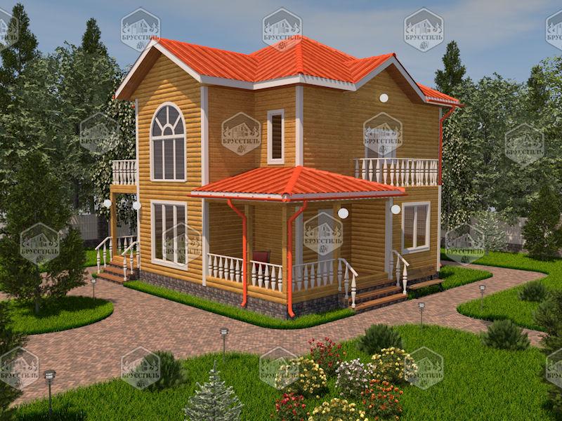 Проект дома из бруса 8х10 MT-24