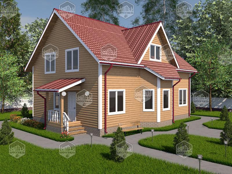Проект дома из бруса 9х12 MT-25