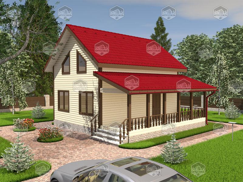 Проект дома из бруса 6х8 MT-4