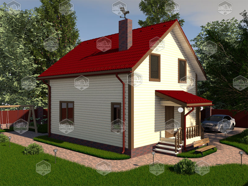 Проект дома из бруса 7х8 MT-7