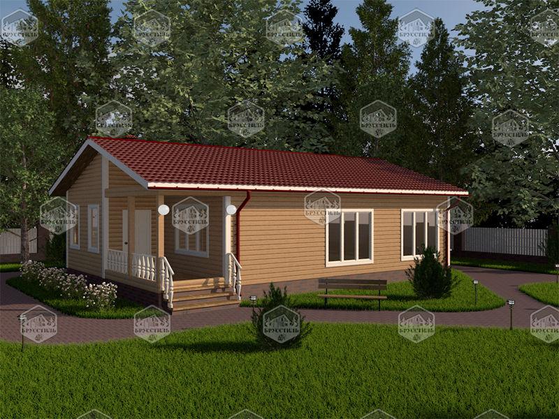 Проект дома из бруса 8х12 MT-9