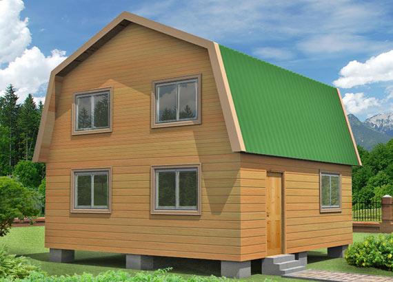 Проект дома из бруса  МТ-35