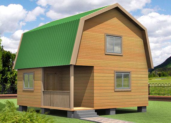 Проект дома из бруса  МТ-36