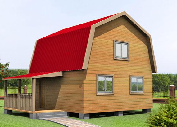 Проект дома из бруса  МТ-37