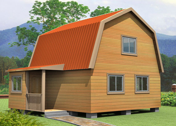 Проект дома из бруса  МТ-39