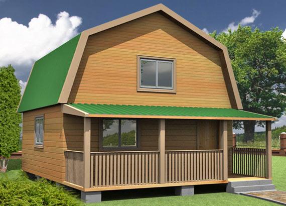 Проект дома из бруса  МТ-40