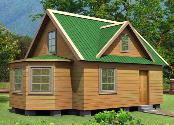 Проект дома из бруса  МТ-48