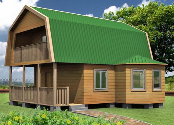 Проект дома из бруса  МТ-49