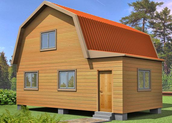 Проект дома из бруса  МТ-50