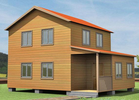 Проект дома из бруса  МТ-56