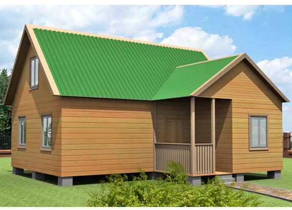 Проект дома из бруса  МТ-57
