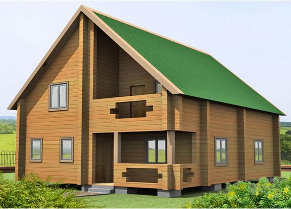 Проект дома из бруса  МТ-62