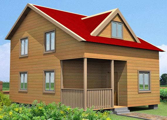Проект дома из бруса  МТ-65