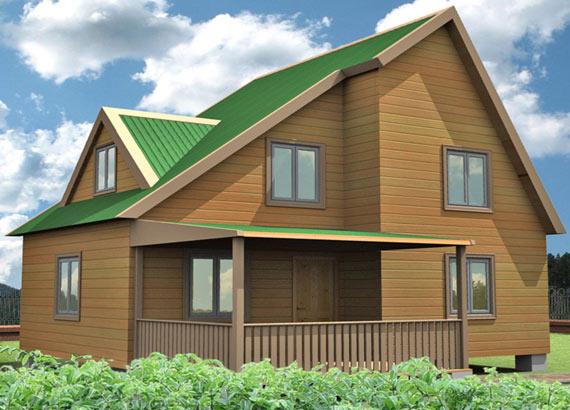 Проект дома из бруса  МТ-66