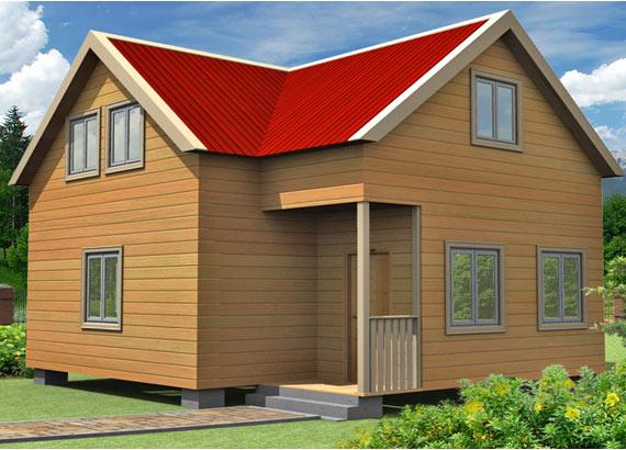 Проект дома из бруса  МТ-67