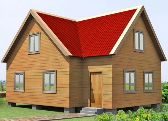 Проект дома из бруса  МТ-69