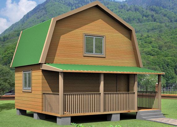 Проект дома из бруса  МТ-30