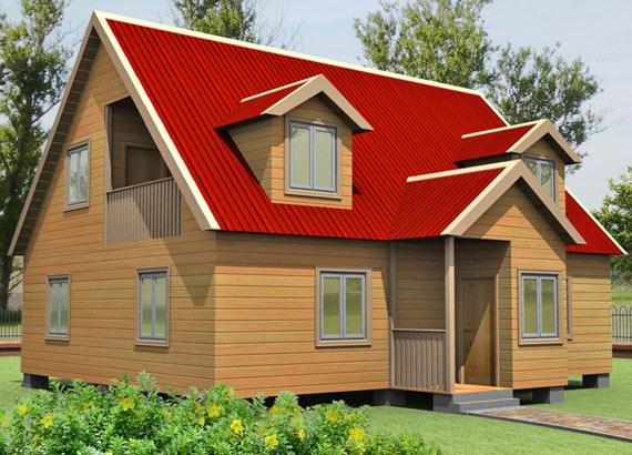 Проект дома из бруса  МТ-78