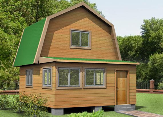 Проект дома из бруса  МТ-31