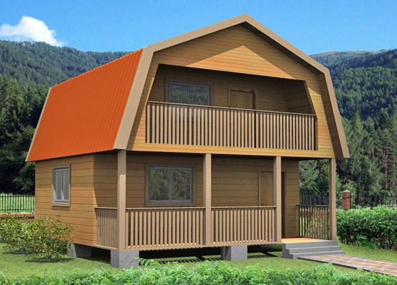 Проект дома из бруса  МТ-33