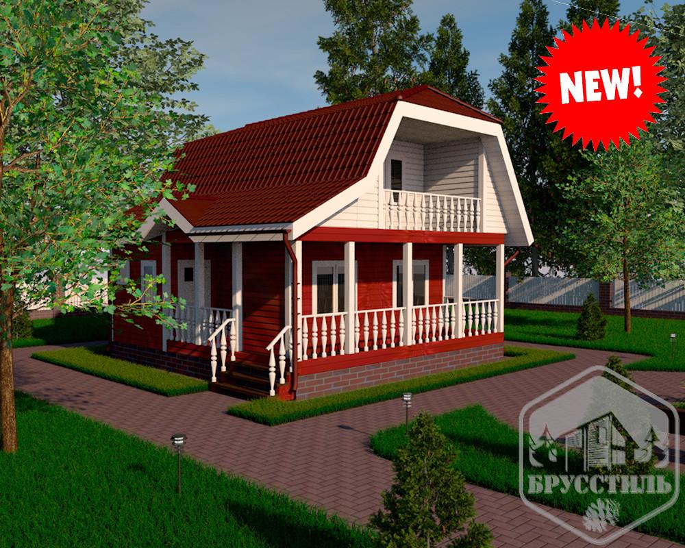 Проект дома из бруса 8х7.5 МТ-26