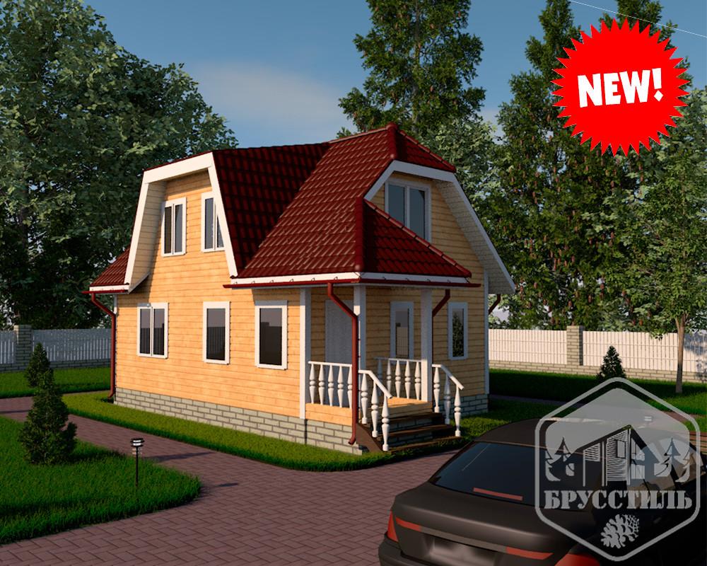 Проект дома из бруса 6х9.5 МТ-27